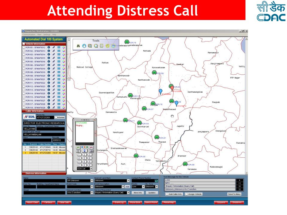 23 20 Response Vehicles 1 23 8 Data Base Server GIS Server E1 Lines Dispatcher Units PSTN Gateway Wireless Base Stations 1 Control Room GDDuty Officer