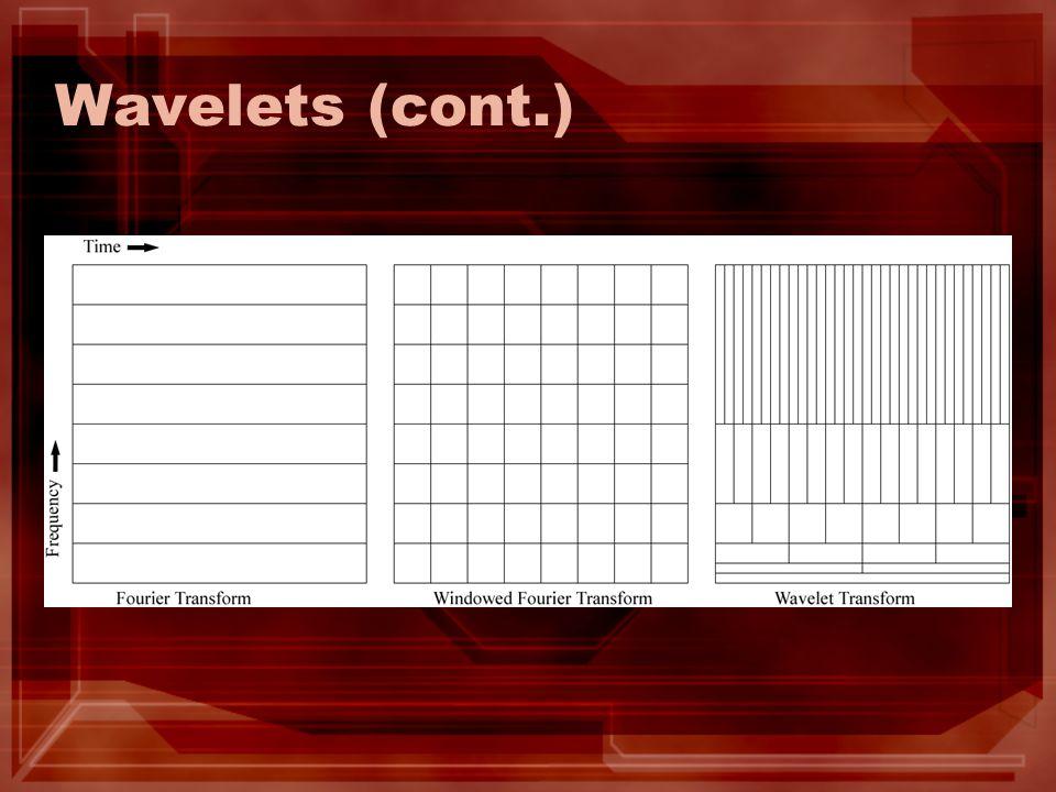 Wavelets (cont.)