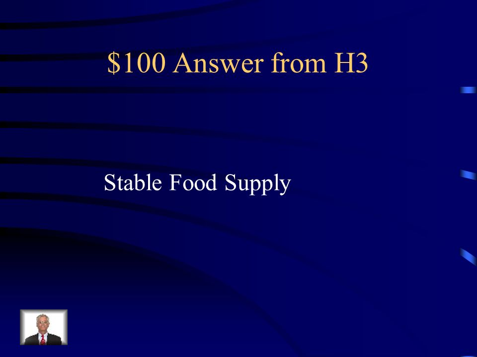 $100 Question from H3 Farming in the Neolithic age created what?