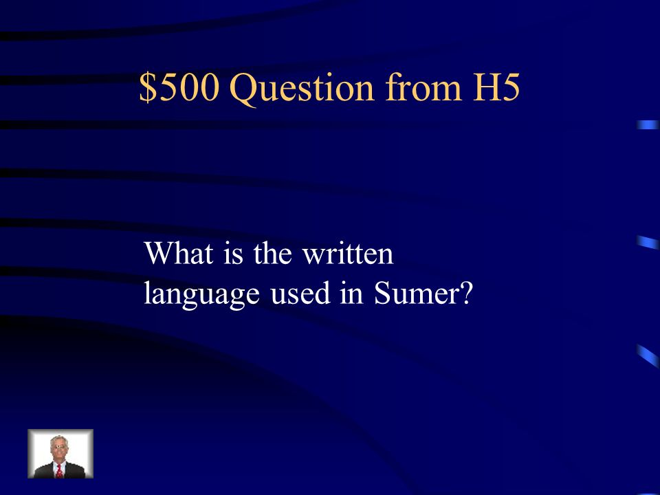 $400 Answer from H5 Ziggurats