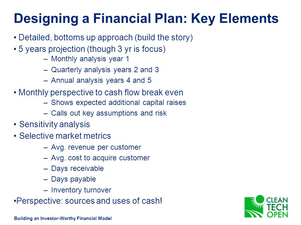 Designing a Financial Plan: Financing Milestones Time Units Product Development IntroductionGrowthMaturityDecline +$ -$ Product (Units) Profits Expenditures Courtesy of Paul Sullivan University of Michigan Prod Dev Alpha Beta I Beta II Pilots IP Fundable Team Friends Family Angel Early Stage Angel Early Stage Pilots Reg.