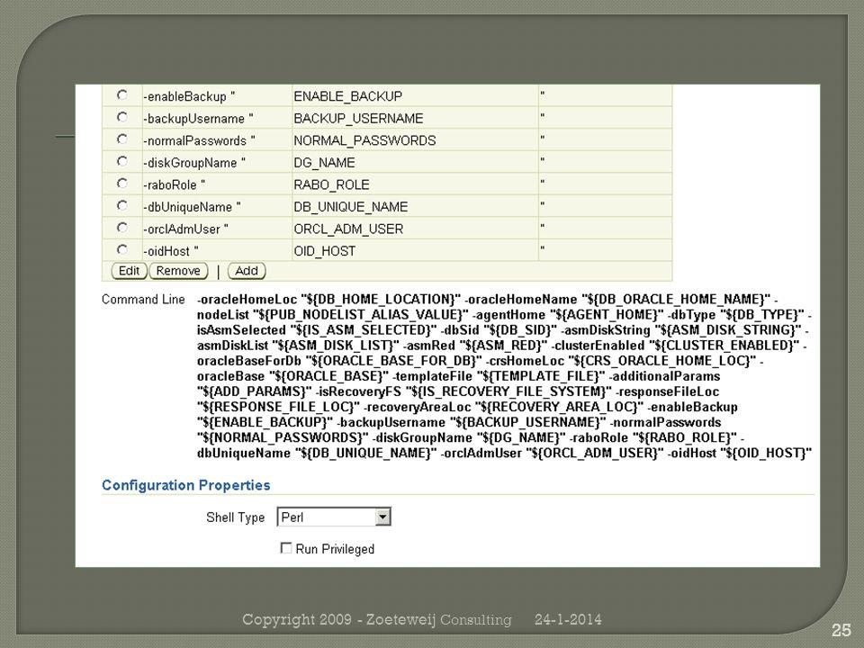 24-1-2014Copyright 2009 - Zoeteweij Consulting 25