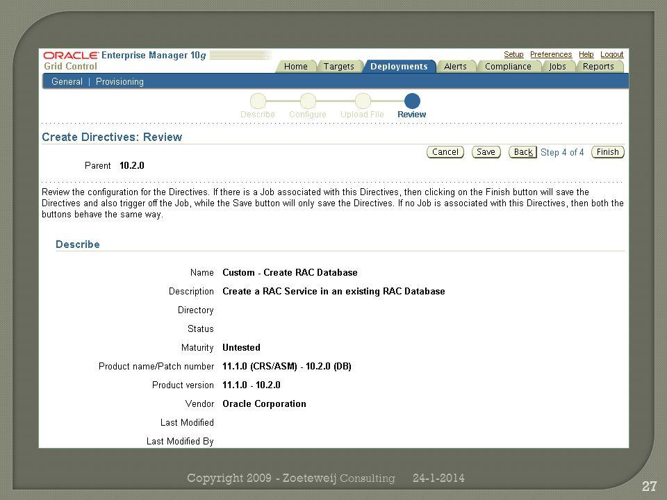 24-1-2014Copyright 2009 - Zoeteweij Consulting 27