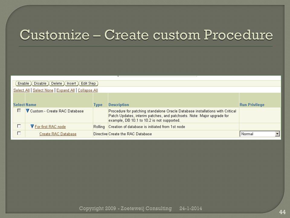 24-1-2014Copyright 2009 - Zoeteweij Consulting 44