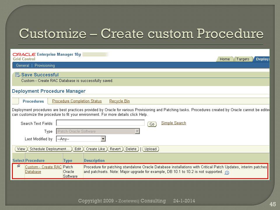 24-1-2014Copyright 2009 - Zoeteweij Consulting 45
