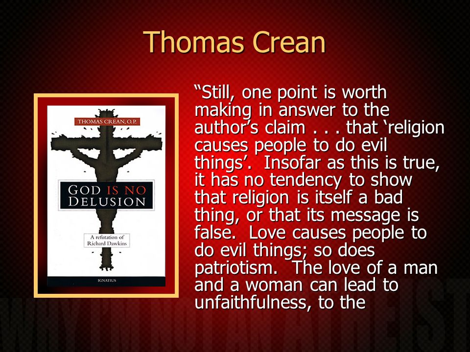 Thomas Crean Still, one point is worth making in answer to the authors claim...