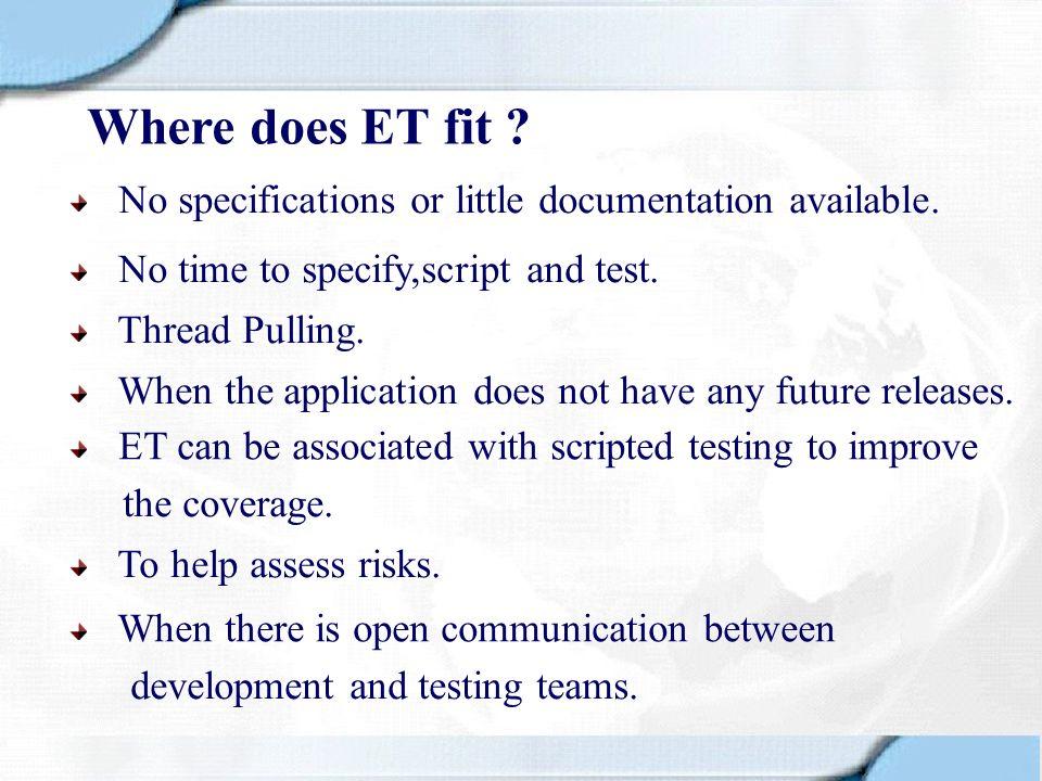 Metrics Helps determine Test Coverage details.Helps in debriefing sessions.