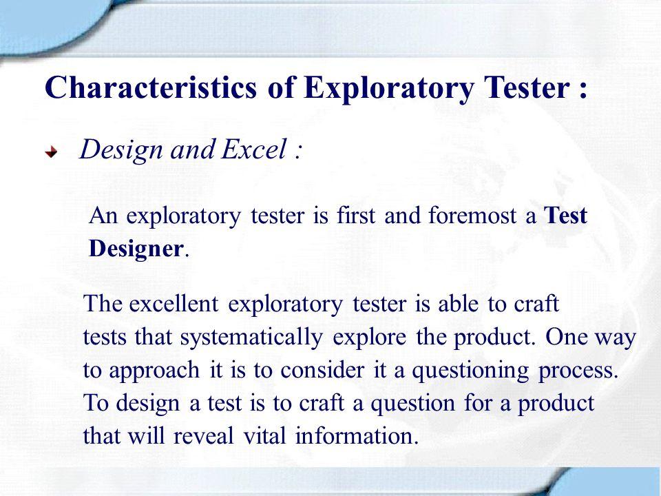 Formalised Methods of ET Scripted Testing vs Formalised ET What is Formalised ET .