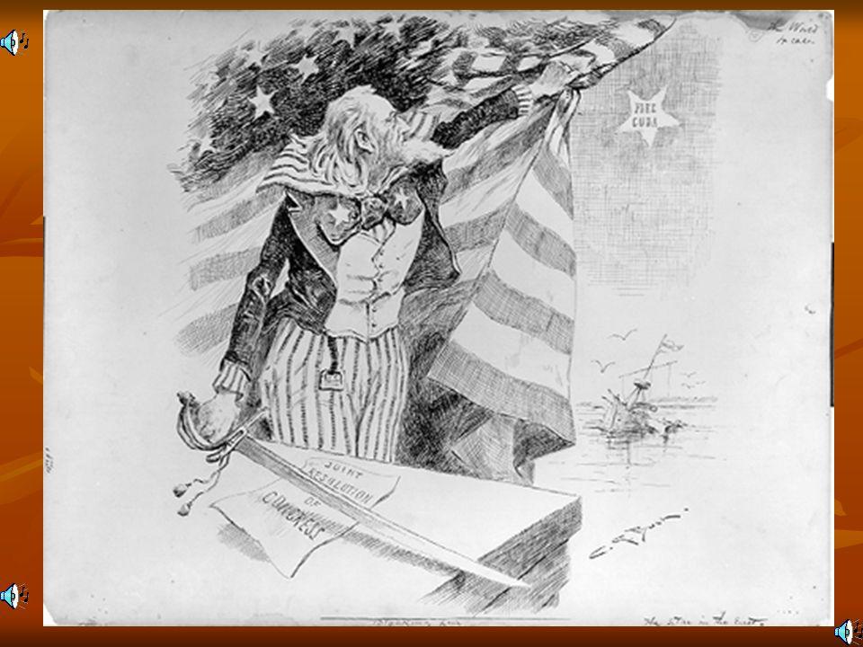 WAR WITH SPAIN ERUPTS!!!! April 20, 1898, U.S. went to war w/Spain.