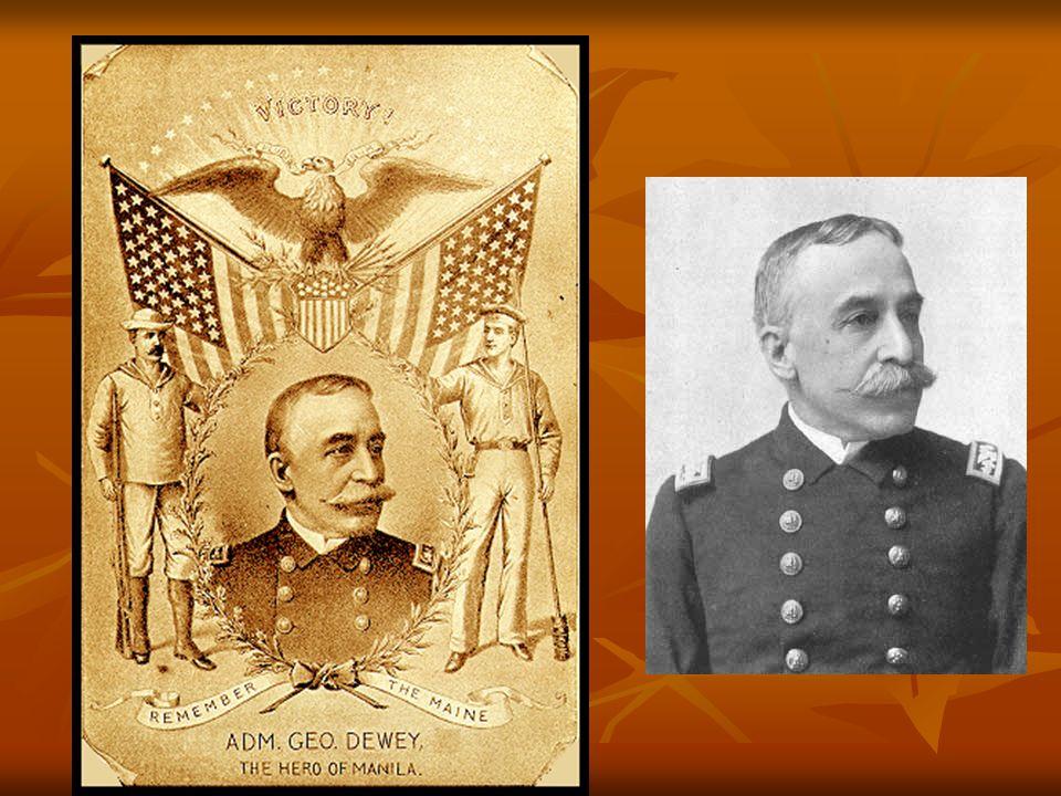 George Dewey On May 1, 1898, American naval commander George Dewey sailed into Manila Bay in the Philippines. On May 1, 1898, American naval commander