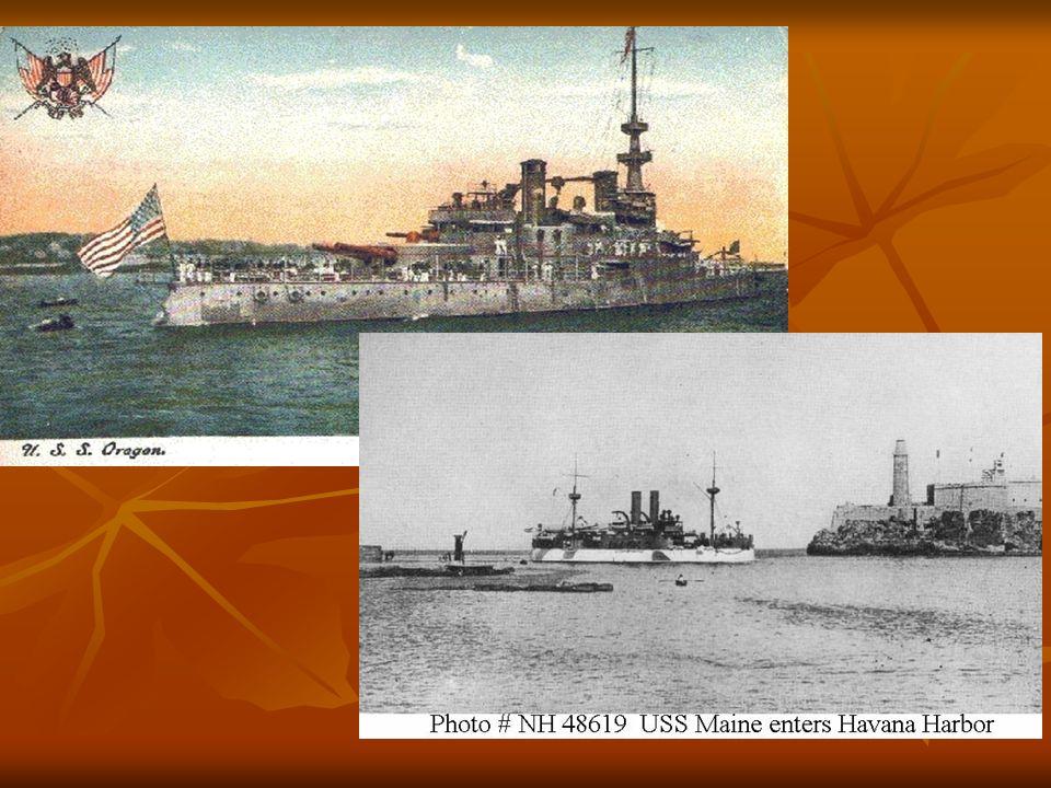 U.S.S. Maine & Oregon U.S. built modern battleships like the Maine & the Oregon. U.S. built modern battleships like the Maine & the Oregon. The new sh