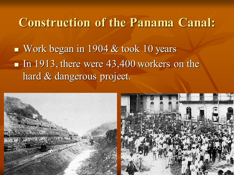 Panama became independent… Then, U.S. got Panamas permission to build the canal.