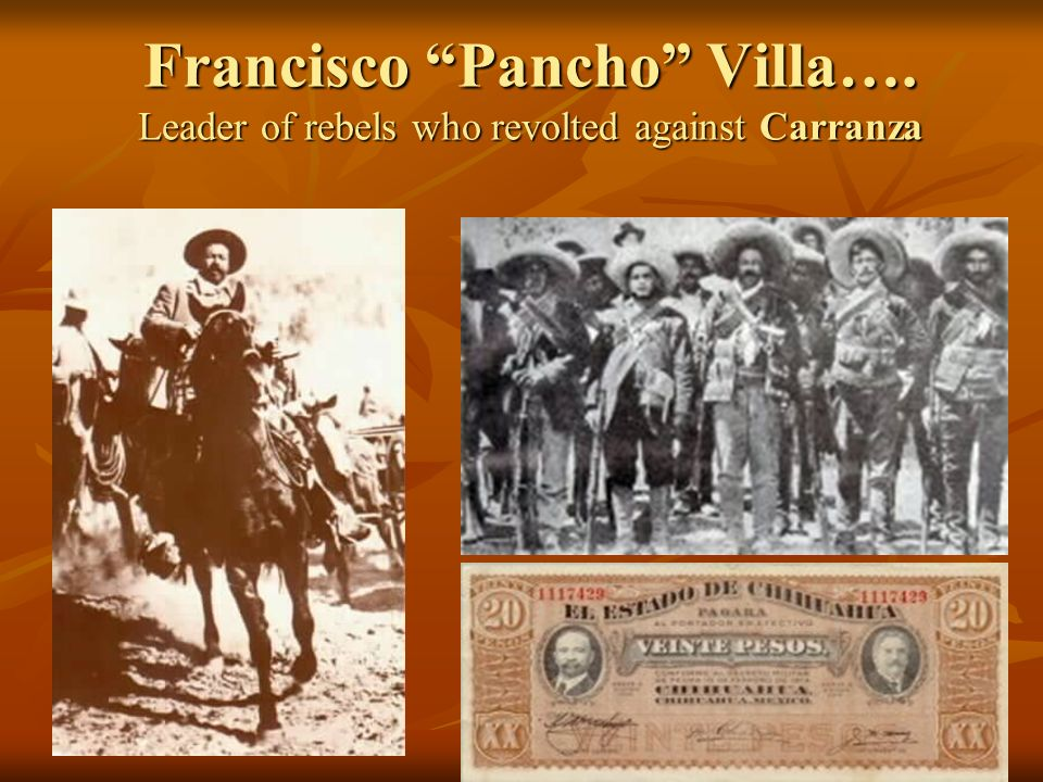 Wilson refused to support the Huerta government b/c it came to power through violence. When a new leader, Venustiano Carranza, took power in Mexico, W