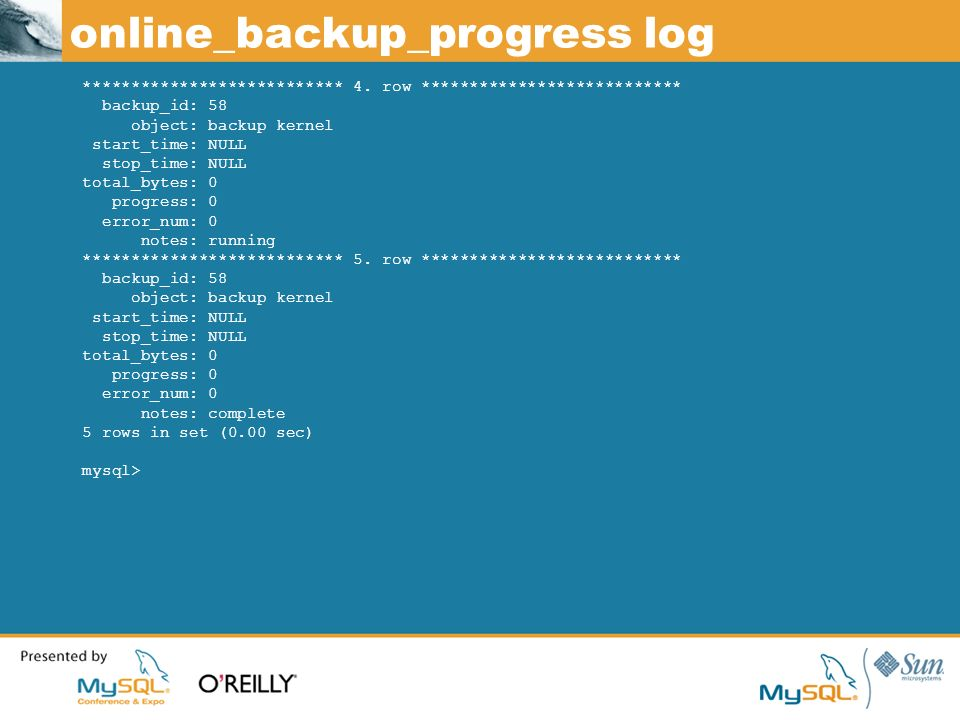 online_backup_progress log *************************** 4.