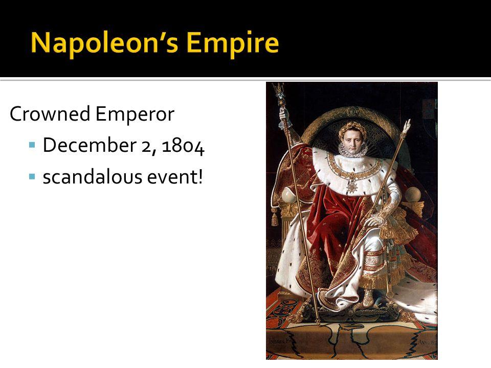 Crowned Emperor December 2, 1804 scandalous event!