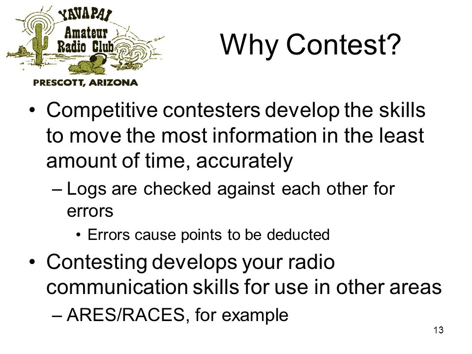 13 Why Contest.
