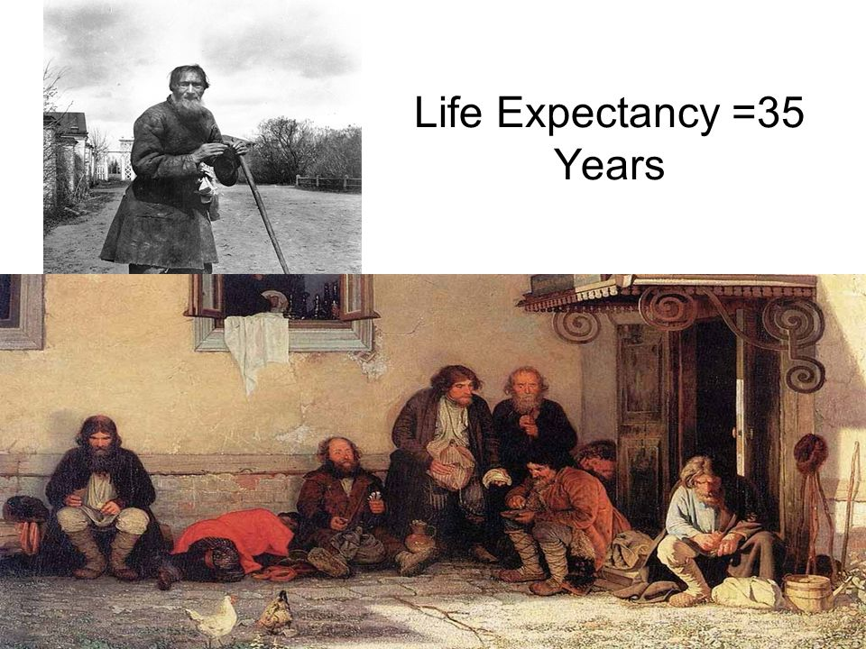 Russian Society: In 1855, 5/6 of European Russians are peasant serfs –1/2 private –1/2 state-owned Owners supply means to live Serfs treated like slav