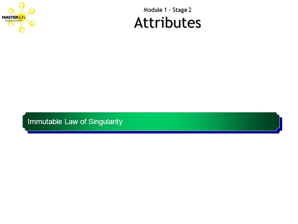 Module 1 - Stage 2 Attributes Most important thing for a brand is its single mindedness. Immutable Law of Singularity