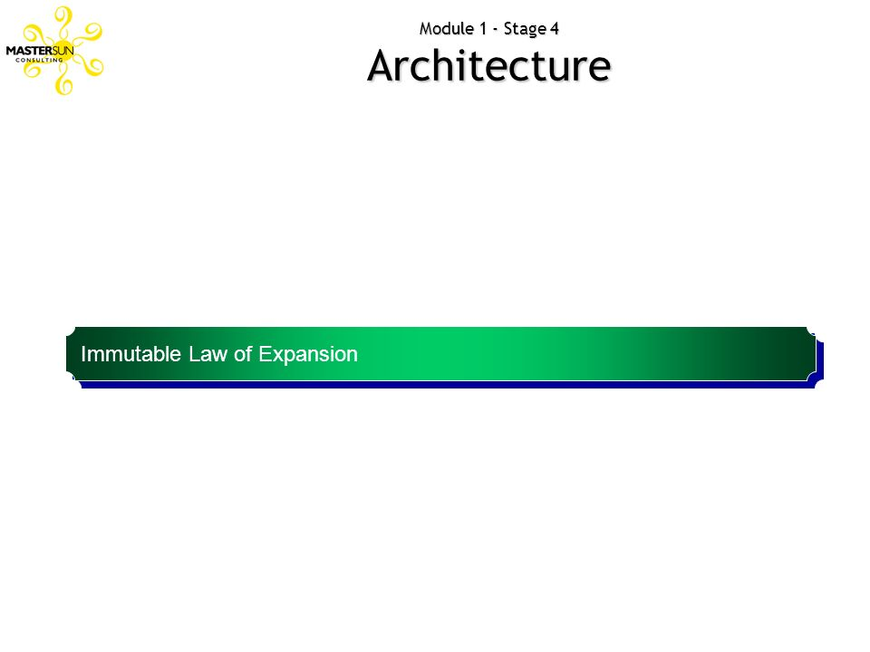 Module 1 - Stage 4 Architecture Immutable Law of Expansion Brands power inversely proportional to scope.