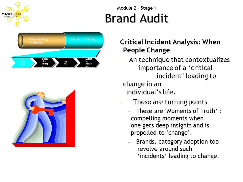 Critical Incident Analysis: When People Change An technique that contextualizes importance of a critical incident leading to change in an individuals