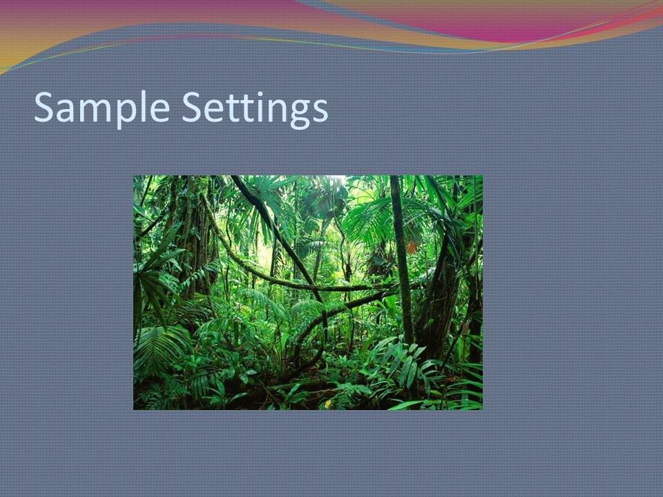 Sample Settings