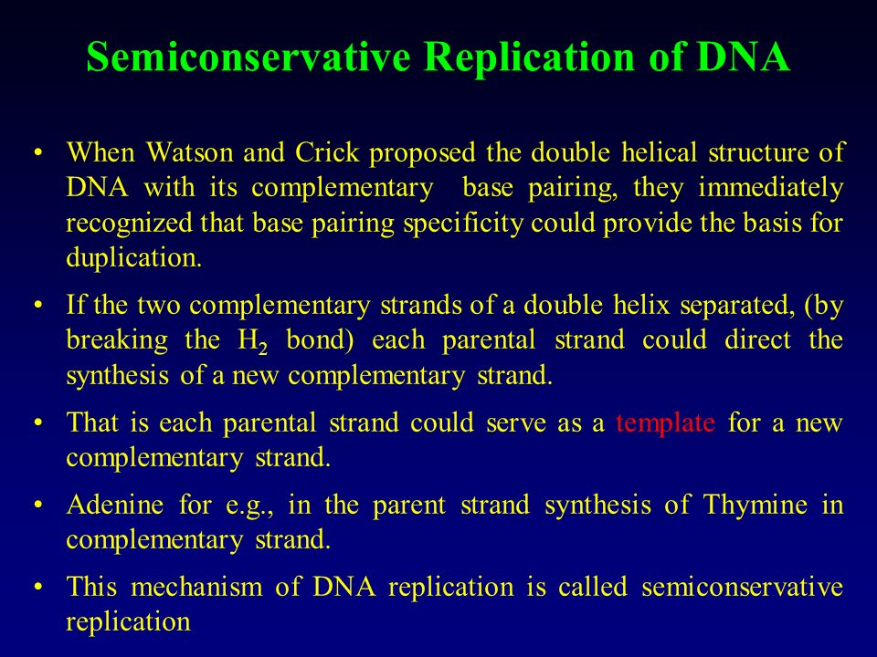 Semiconservative Replication of DNA Living organism perpetuate their kind reproduction. This may simple fission as in bacteria or complex mode of repr