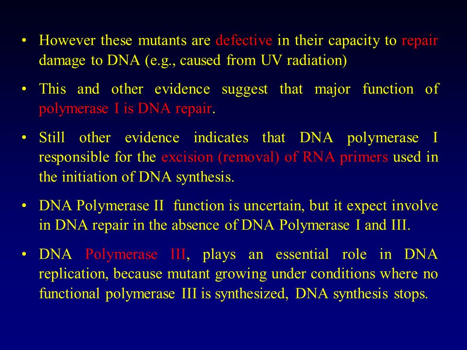 DNA POLYMERASES After Kornbergs discovery and extensive work with DNA polymerase I of E.coli, a large number of DNA polymerases have been isolated. Th