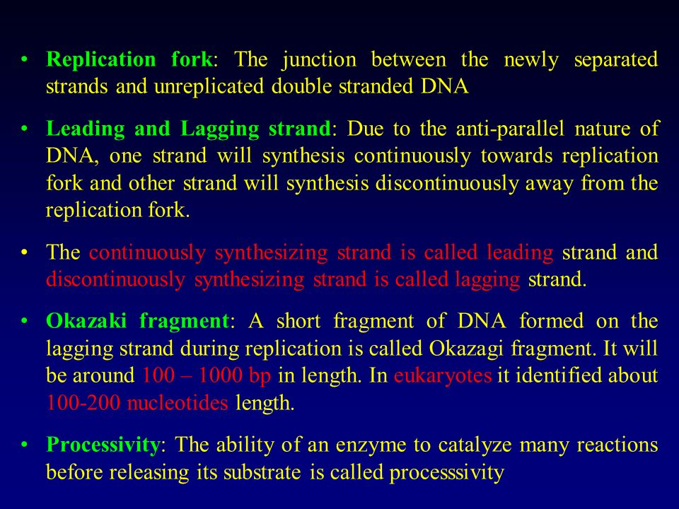 Replicating Apparatus is complex DNA replication is complex. It is carried out by multienzyme complex, often called, replication apparatus or the repl