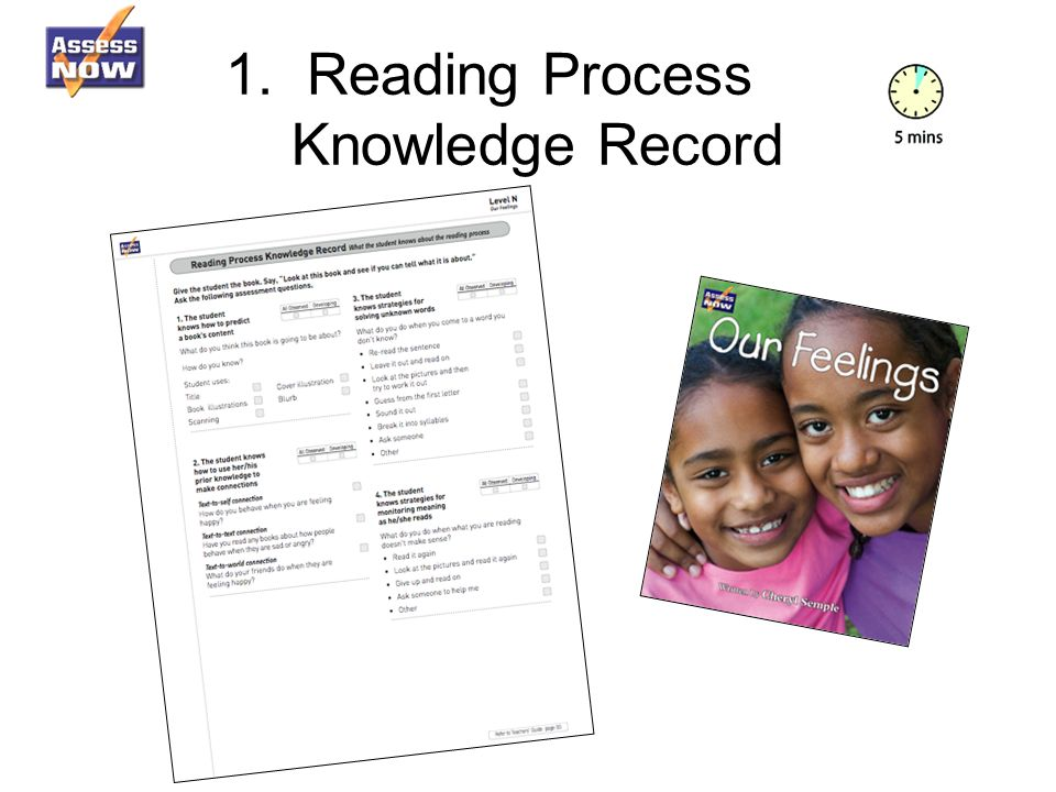 1. Reading Process Knowledge Record