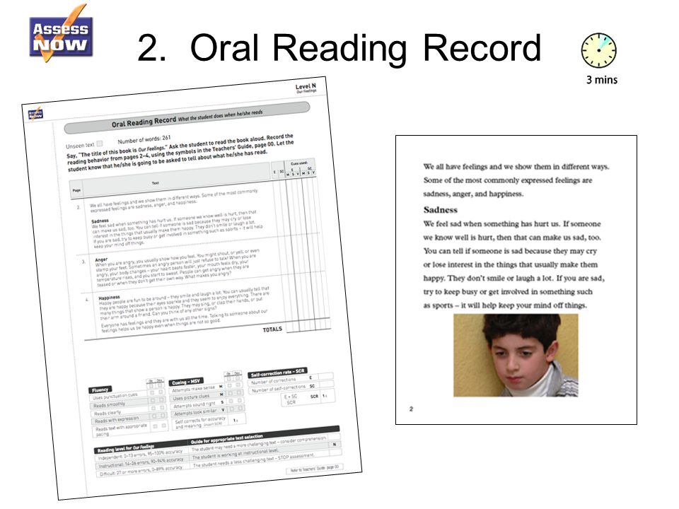 2. Oral Reading Record