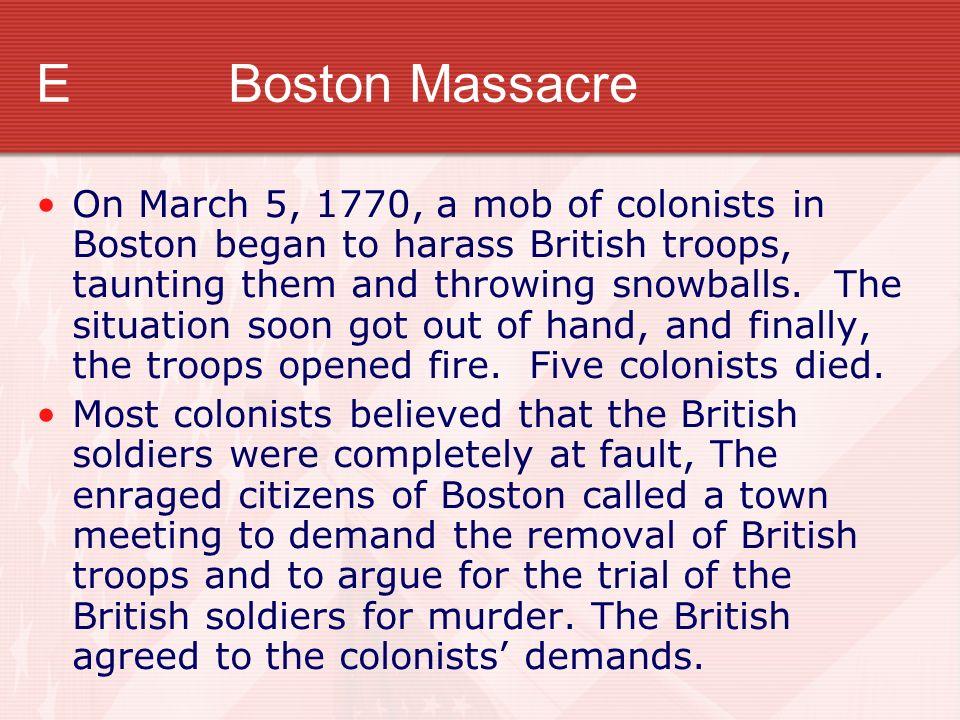E Boston Massacre