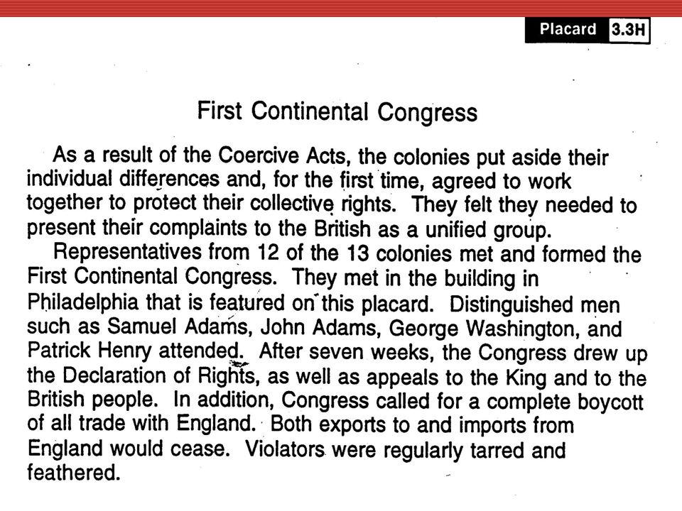 HFirst Continental Congress