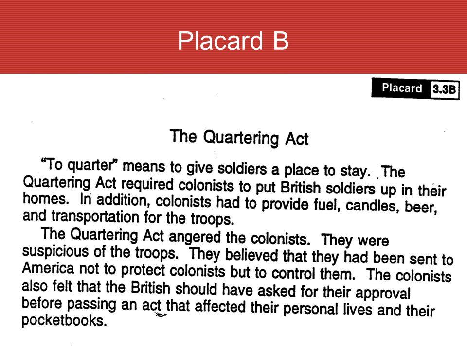 B The Quartering Act