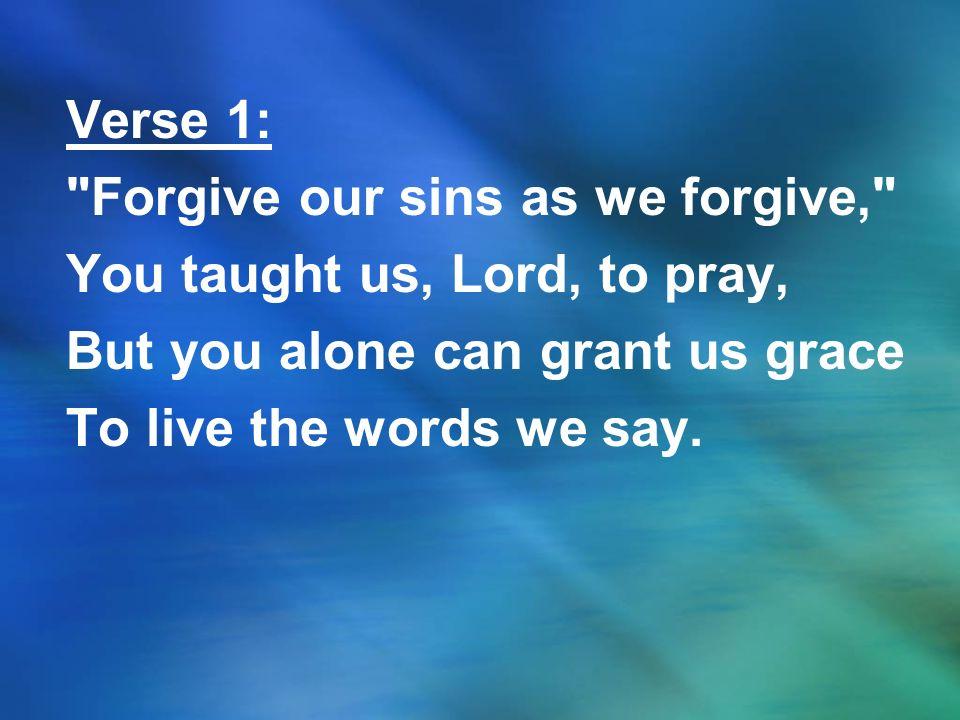 Verse 1: