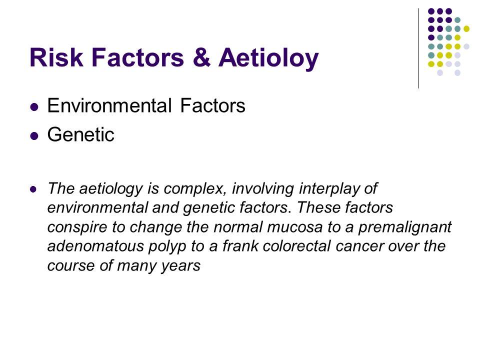 Risk Factors & Aetioloy Environmental Factors Genetic The aetiology is complex, involving interplay of environmental and genetic factors. These factor