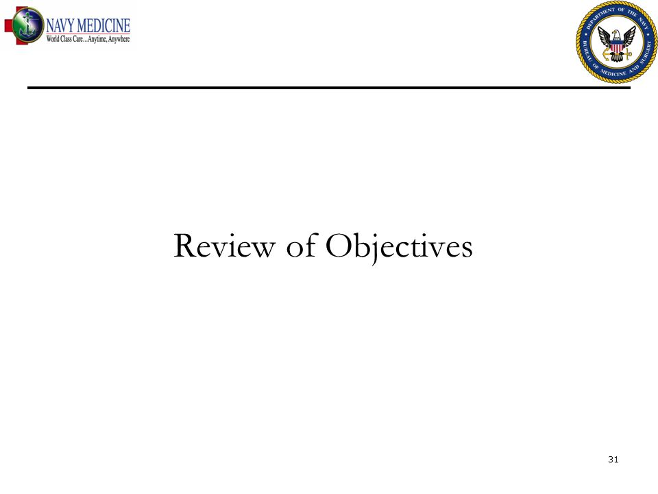 Review of Objectives 31