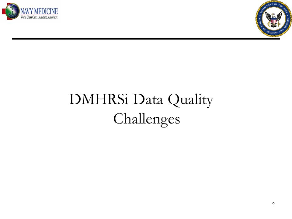 DMHRSi Data Quality Challenges 9