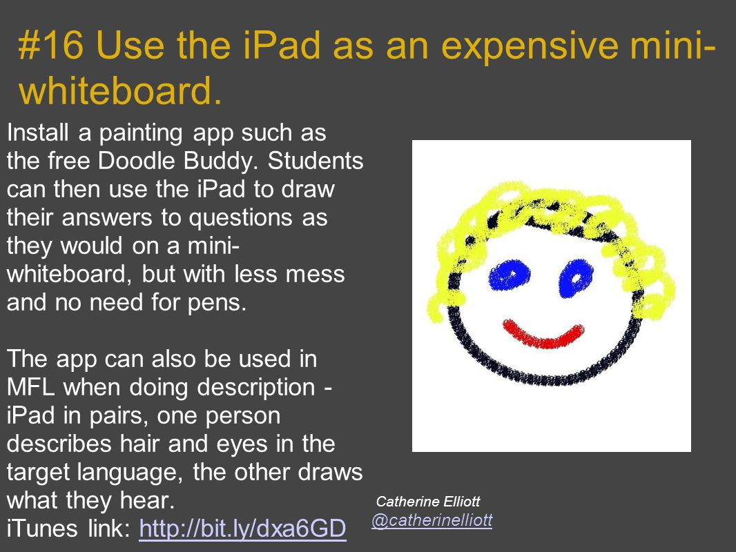 #16 Use the iPad as an expensive mini- whiteboard.