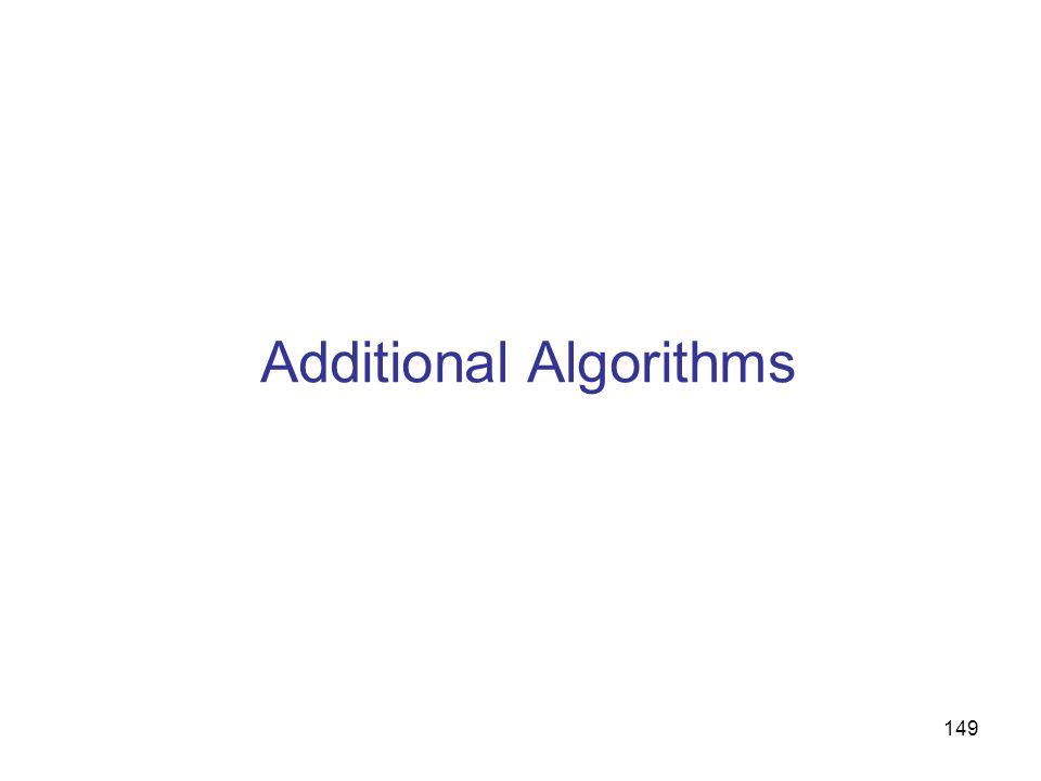 149 Additional Algorithms