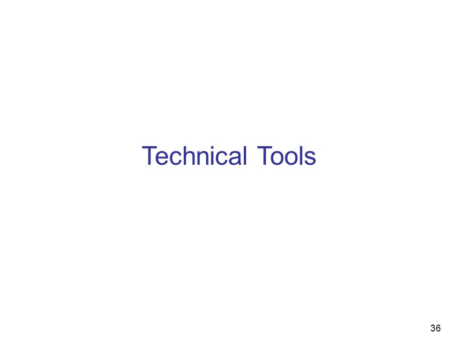36 Technical Tools