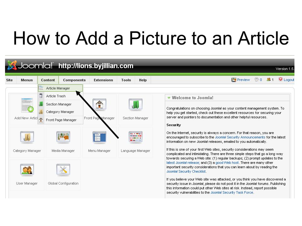How to Add a Picture to an Article