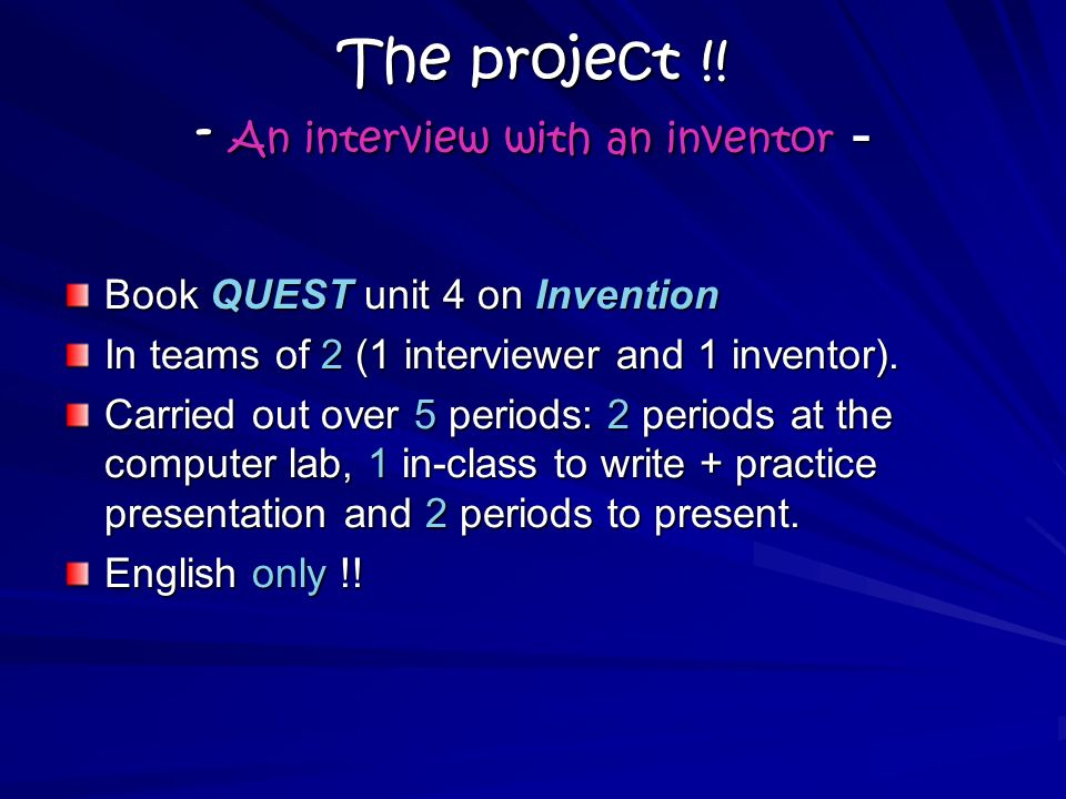 The project !.