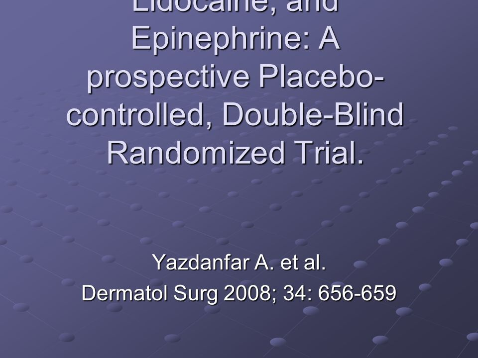Treatment of common warts with an intralesional Mixture of 5-Fluorouracil, Lidocaine, and Epinephrine: A prospective Placebo- controlled, Double-Blind