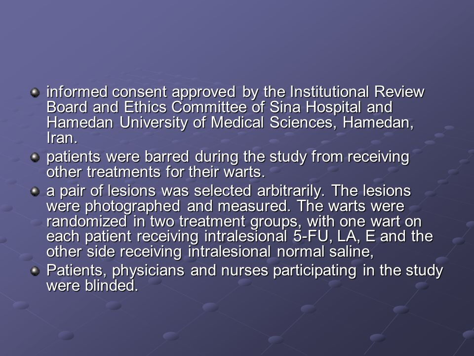 informed consent approved by the Institutional Review Board and Ethics Committee of Sina Hospital and Hamedan University of Medical Sciences, Hamedan,