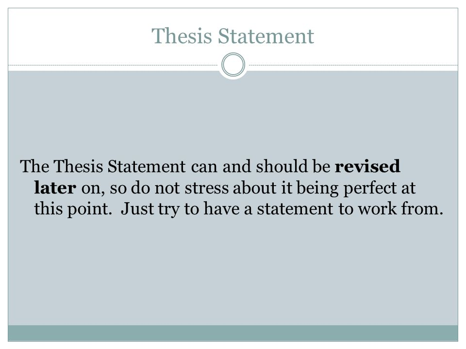 Defining a Thesis Statement - CustomPapers com