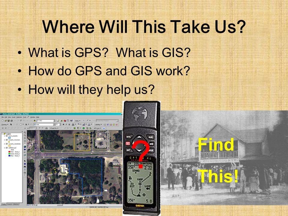 Where Will This Take Us. What is GPS. What is GIS.