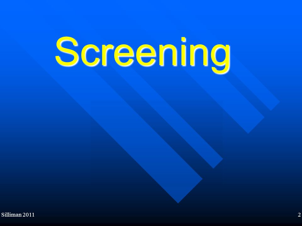 Silliman 20112 Screening
