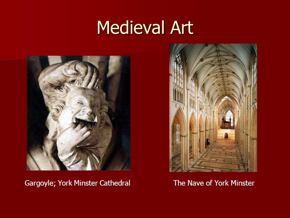 Medieval Art Gargoyle; York Minster CathedralThe Nave of York Minster