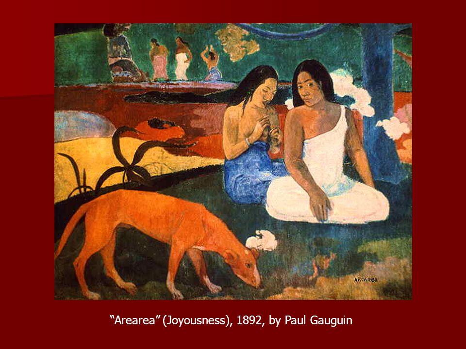 Arearea (Joyousness), 1892, by Paul Gauguin