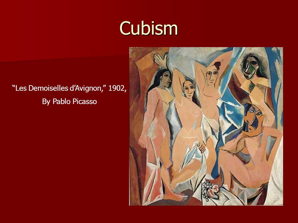 Cubism Les Demoiselles dAvignon, 1902, By Pablo Picasso